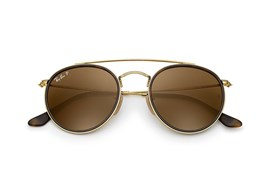 Óculos de Sol Ray Ban Round Double Bridge - 0RB3647N 001/5751