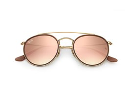 Óculos de Sol Ray Ban Round Double Bridge - 0RB3647N 001/7O51